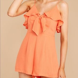 Orange romper from RDB, never worn